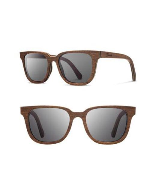 Shwood - Gray 'prescott' 53mm Wood Sunglasses - for Men - Lyst