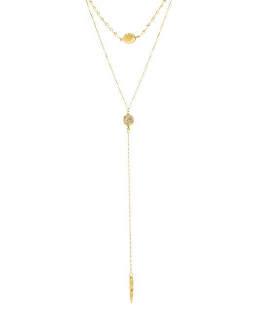 Panacea Multicolor Drusy Layered Y-necklace