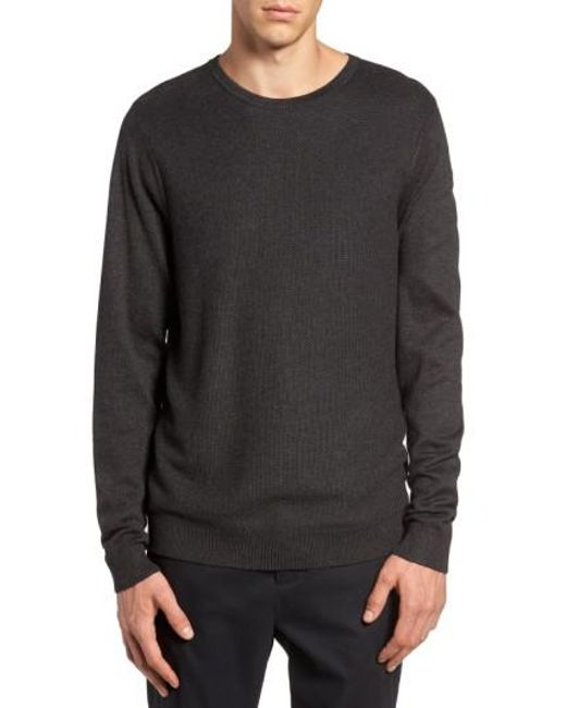 Calibrate | Gray Honeycomb Stitch Crewneck Sweater for Men | Lyst