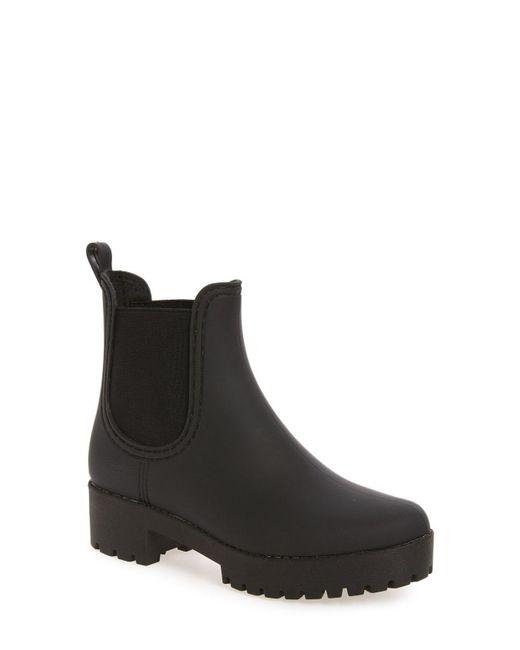 Jeffrey Campbell - Black Cloudy Waterproof Chelsea Rain Boot - Lyst