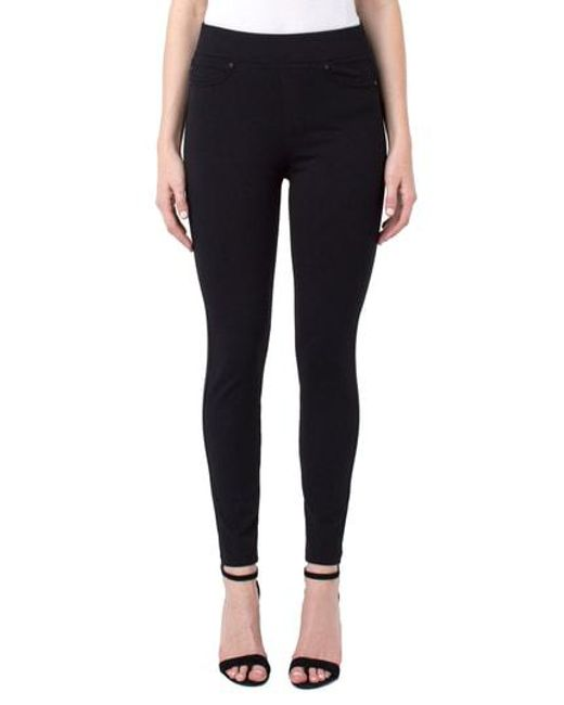 Liverpool Jeans Company - Black Pull-on Knit Leggings - Lyst