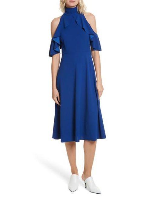Tracy Reese - Blue Midi Dress - Lyst