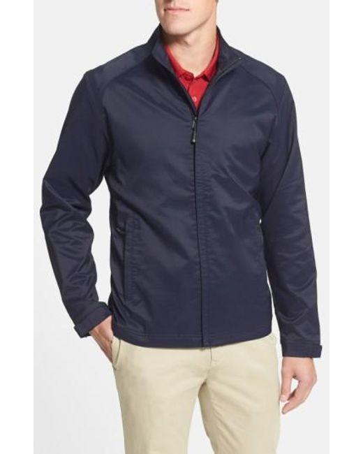 Cutter & Buck   Blue 'blakely' Weathertec Wind & Water Resistant Full Zip Jacket for Men   Lyst