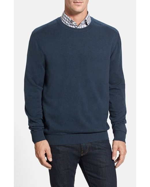 Cutter & Buck   Blue 'broadview' Crewneck Sweater for Men   Lyst