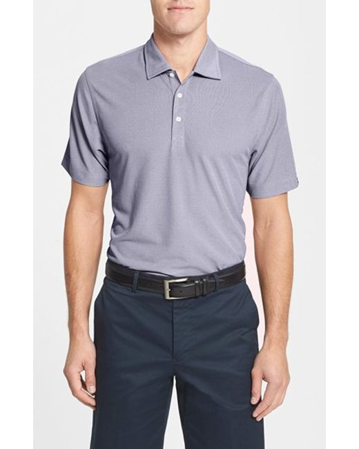 Cutter & Buck | Blue 'blaine' Oxford Polo for Men | Lyst