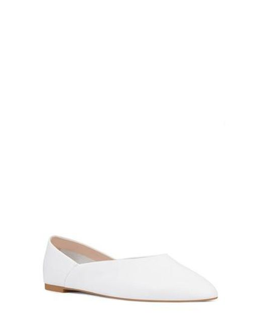 Nine West - White Monika Skimmer Flat - Lyst