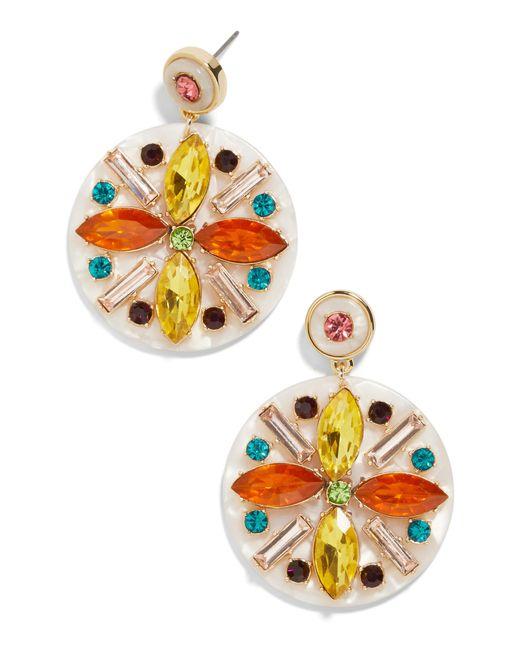 BaubleBar - Pink Safiya Crystal Drop Earrings - Lyst