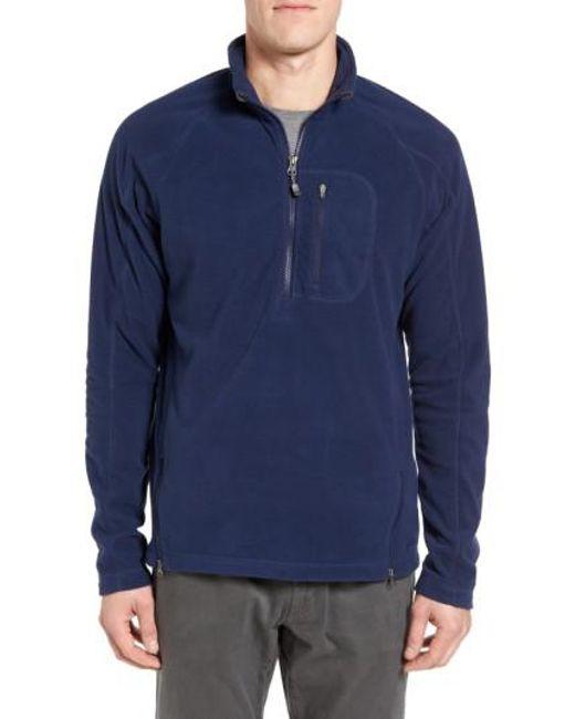 Gramicci Utility Quarter Zip Fleece Sweater in Blue for Men   Lyst