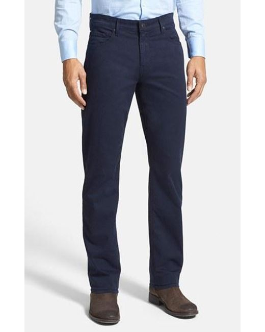 PAIGE | Blue Normandie Slim Straight Leg Twill Pants for Men | Lyst