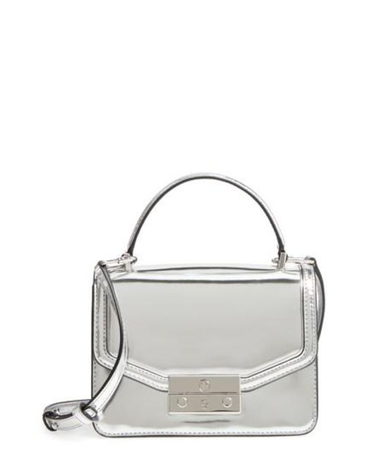 Tory Burch | Mini Juliette Metallic Leather Top Handle Satchel - Metallic | Lyst