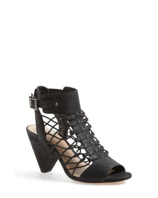 Vince Camuto | Black Evel Leather Sandal | Lyst