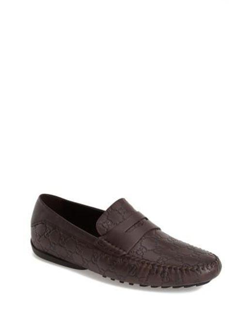 Gucci | Brown San Marino Driving Shoe for Men | Lyst
