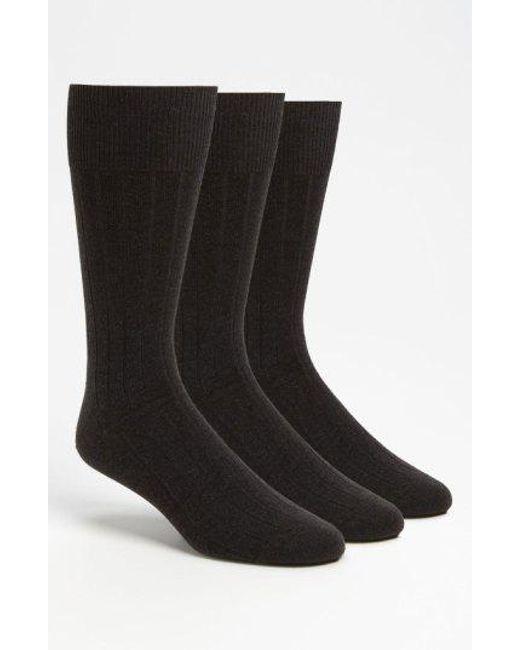 CALVIN KLEIN 205W39NYC - Gray 3-pack Wide Rib Socks, Grey for Men - Lyst