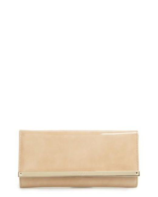 Jimmy Choo | Natural 'milla' Patent Leather Wallet On A Chain | Lyst