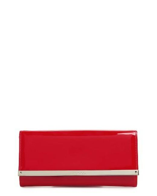 Jimmy Choo | Red 'milla' Patent Leather Wallet On A Chain | Lyst