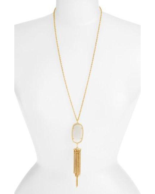 Kendra Scott | Purple 'rayne' Stone Tassel Pendant Necklace | Lyst