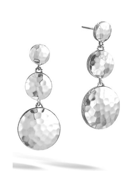 John Hardy   Metallic 'dot' Drop Earrings   Lyst