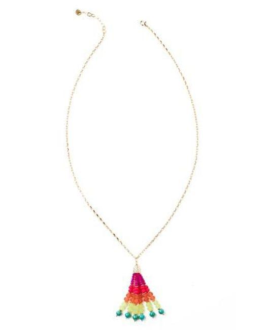 Lilly Pulitzer | Metallic Lilly Pulitzer Kiki Pendant Necklace | Lyst