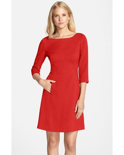 Vince Camuto | Red Crepe A-line Dress | Lyst