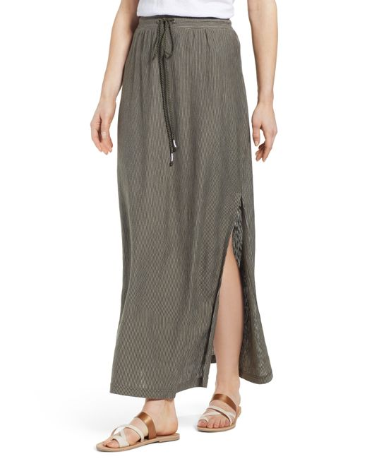 Caslon - Gray Caslon Stripe Knit Maxi Skirt - Lyst