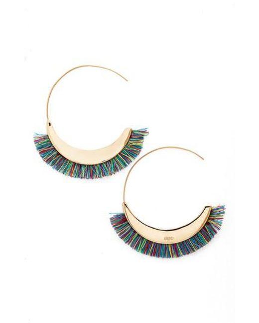 Rebecca Minkoff | Multicolor Large Hoop Earrings | Lyst