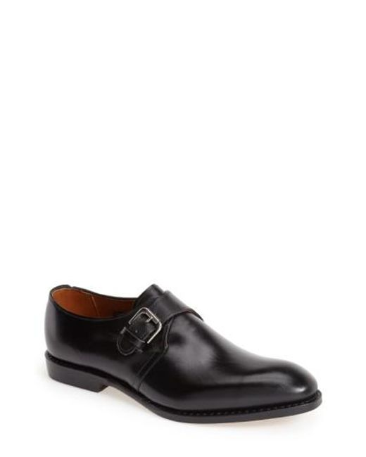 Allen Edmonds | Black Warwick Monk Strap Shoe for Men | Lyst