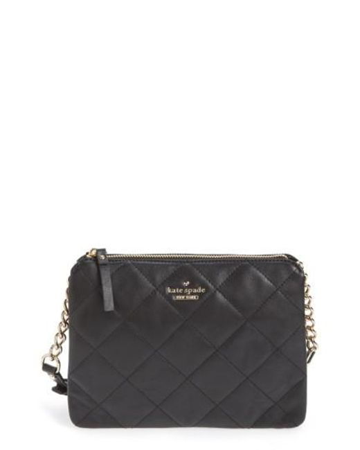 Kate Spade | Black Emerson Place Harbor Leather Cross-Body Bag | Lyst