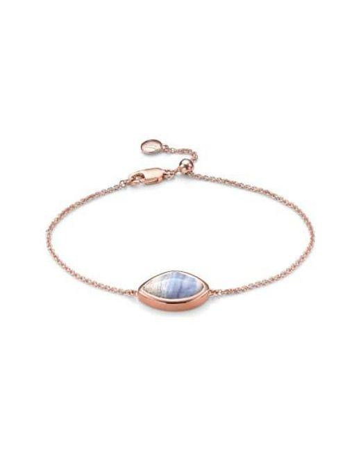 Monica Vinader | Blue 'siren' Teardrop Bracelet | Lyst