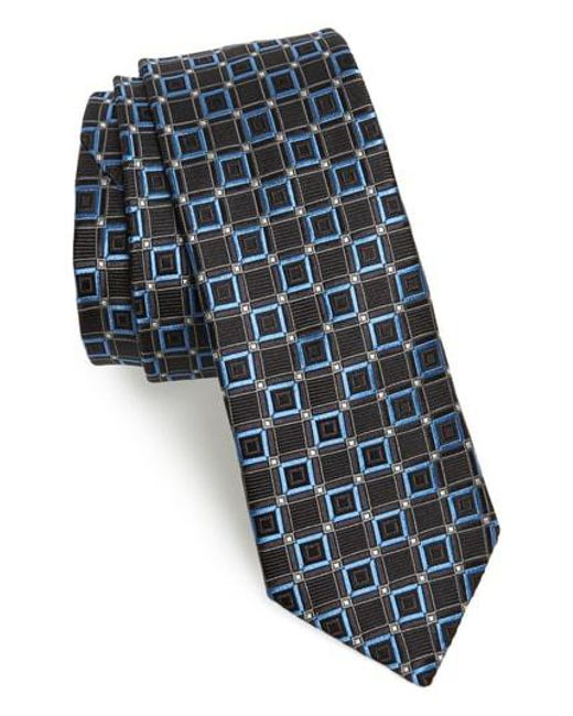 Ted Baker - Black Medallion Silk Tie for Men - Lyst