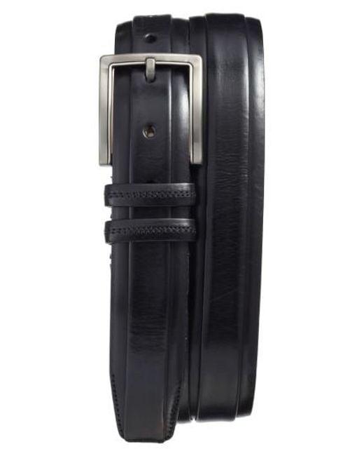 Mezlan | Black Parma Leather Belt for Men | Lyst