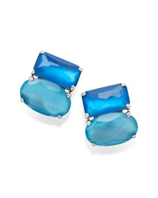 Ippolita - Blue Wonderland Cluster Stud Earrings - Lyst
