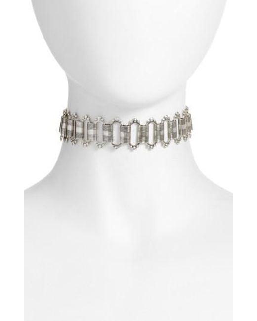 Vanessa Mooney | Metallic Sulai Choker Necklace | Lyst