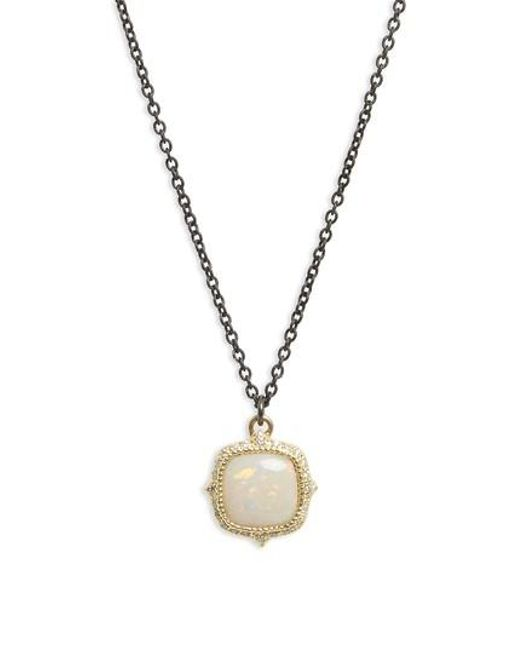 Armenta - Metallic Old World Cushion Opal Drop Necklace - Lyst
