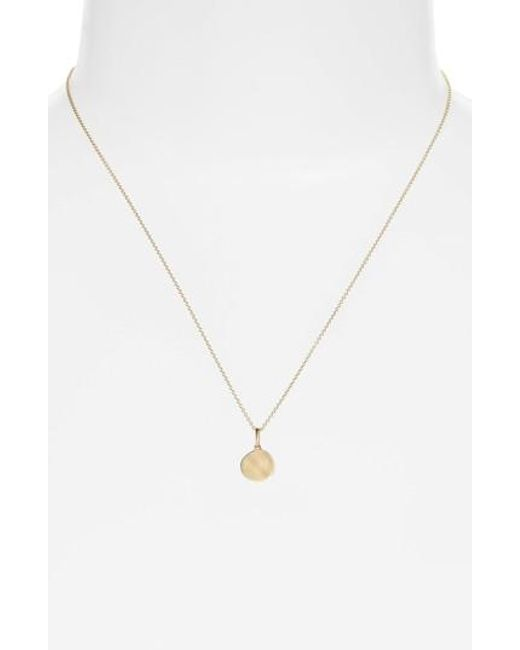 Bony Levy | Metallic Small Concave Pendant Necklace (nordstrom Exclusive) | Lyst
