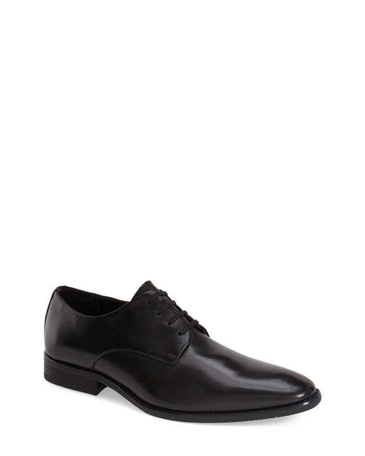 Calvin Klein - Black 'ramses' Plain Toe Derby for Men - Lyst