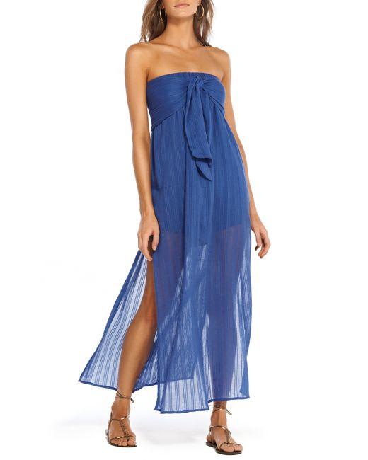 8825a797b8743 ViX - Blue Klein Tess Cover-up Maxi Dress - Lyst ...
