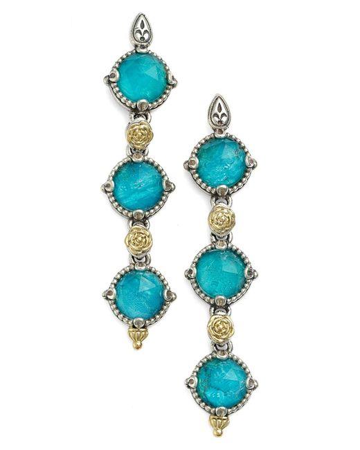 Konstantino Green 'iliada' Triple Drop Earrings