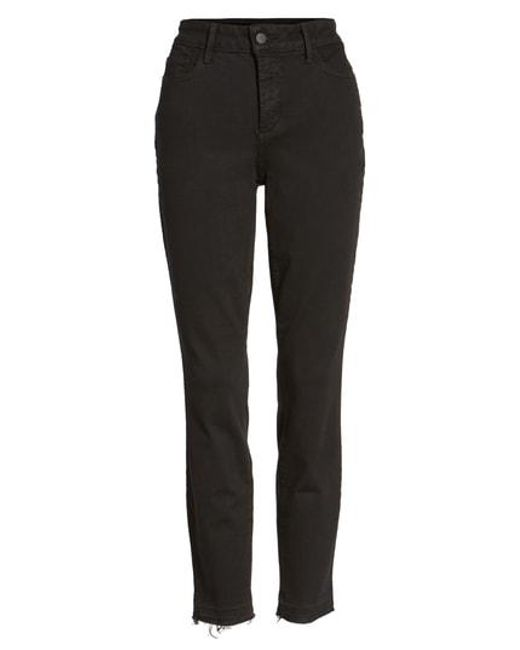 NYDJ - Black Ami High Waist Release Hem Stretch Skinny Jeans - Lyst