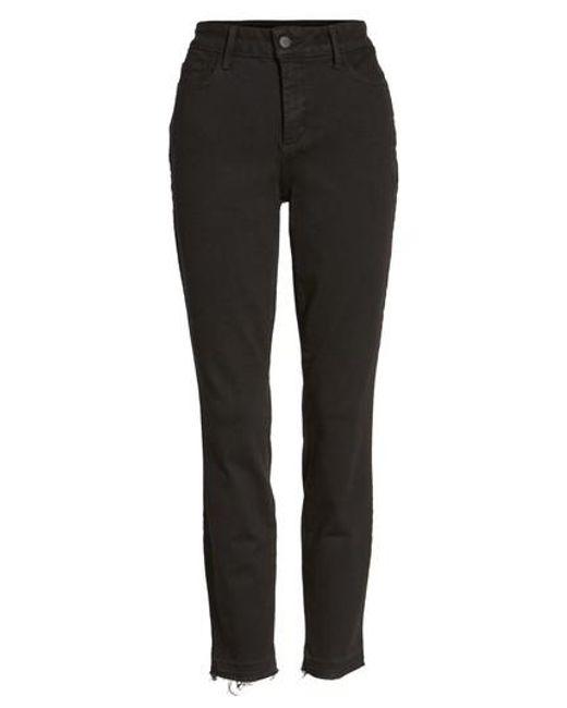 NYDJ   Black Ami Release Hem Stretch Skinny Jeans (petite)   Lyst