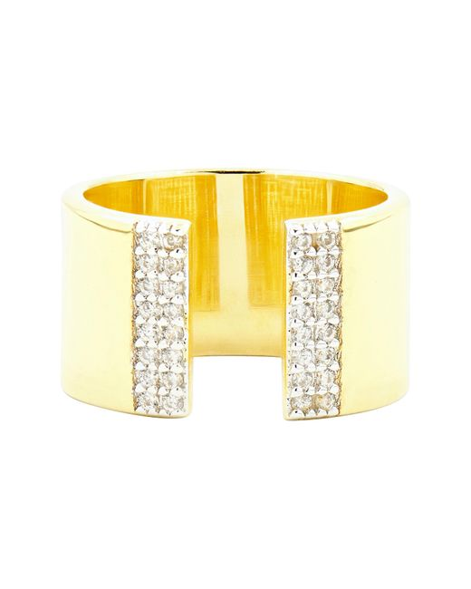 Freida Rothman - Metallic Radiance Cubic Zirconia Ring - Lyst