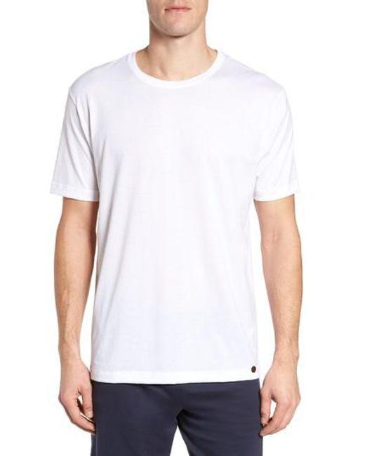 Hanro | White Night & Day Crewneck T-shirt for Men | Lyst