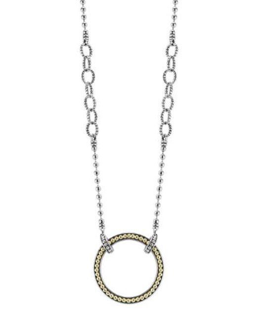 Lagos - Metallic Enso Pendant Necklace - Lyst