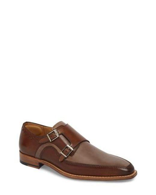 Mezlan - Brown Magno Double Monk Strap Shoe for Men - Lyst