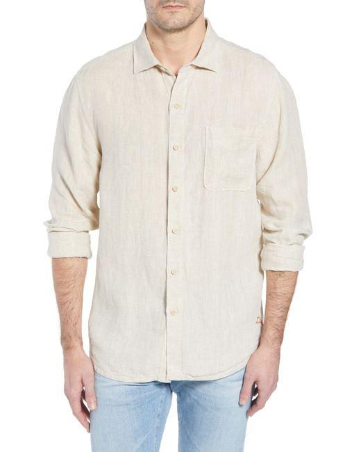 Tommy Bahama - Blue Seaspray Breezer Standard Fit Linen Sport Shirt for Men - Lyst