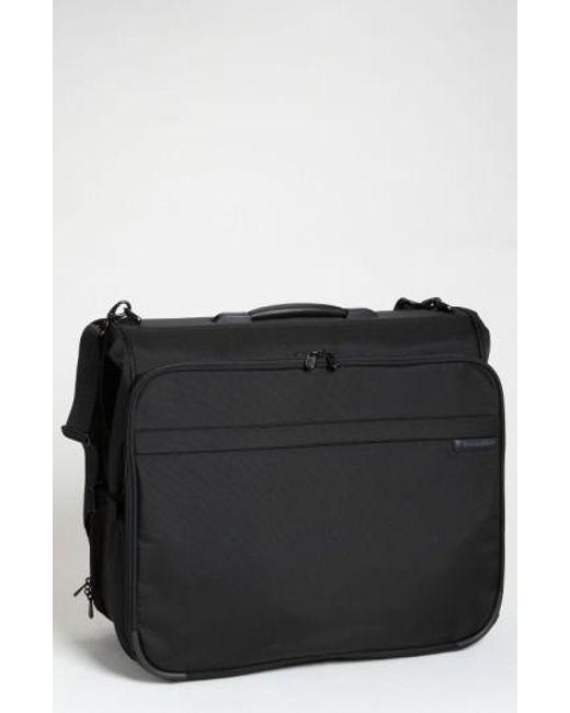 Briggs & Riley   Black 'baseline - Deluxe' Garment Bag for Men   Lyst