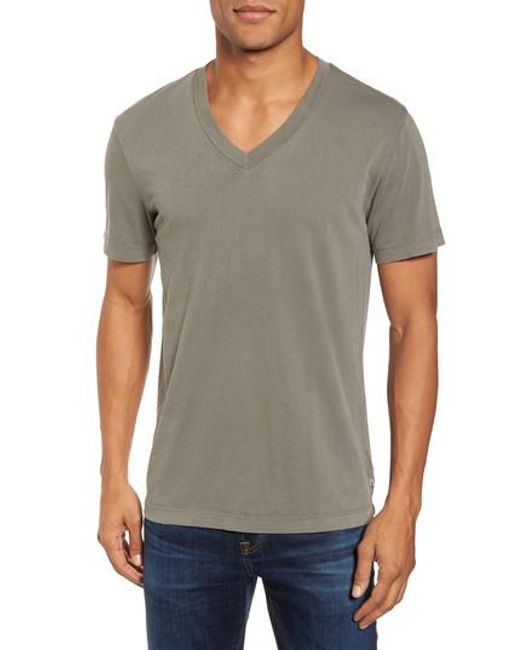 James Perse | Black Short Sleeve V-neck T-shirt for Men | Lyst