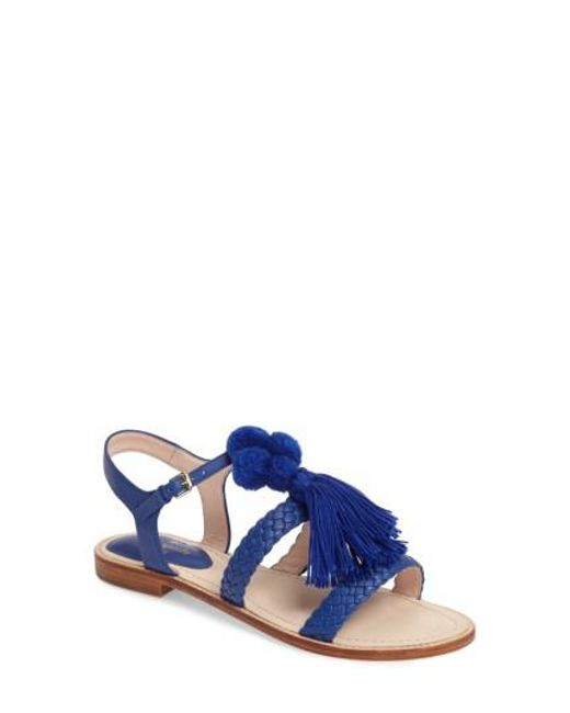 Kate Spade   Blue Sunset Flat Sandal   Lyst