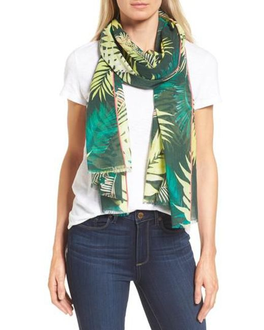 Rebecca Minkoff | Green Palm Oblong Scarf | Lyst