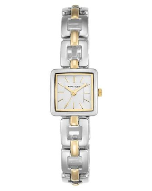 Anne Klein   Metallic Square Bracelet Watch   Lyst
