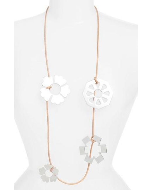Tory Burch - Metallic Geo Multi Charm Necklace - Lyst